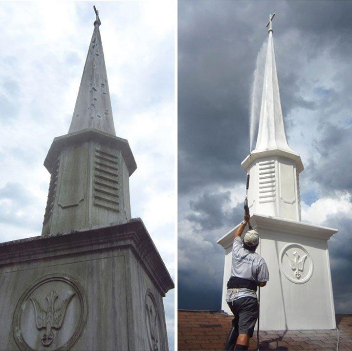 Church steeple cleaning Orlando