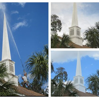 Orlando church steeple cleaning