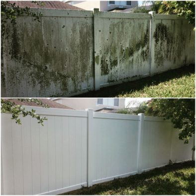 Vinyl fence cleaning Orlando Wash Rite Cleaning